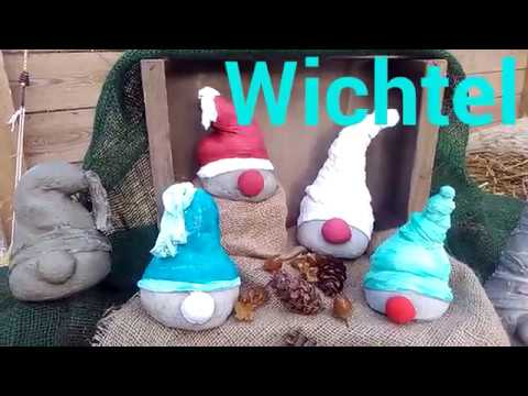 Beton Wichtel einfach selber machen  YouTube