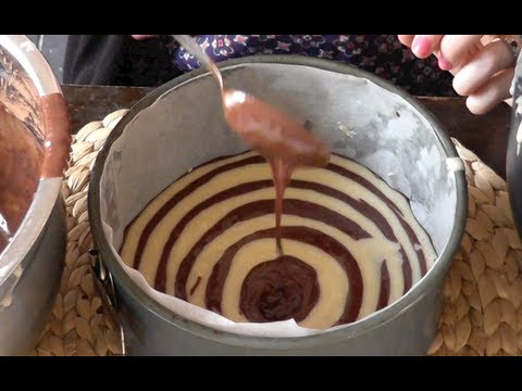 How To Make A Zebra Cake!