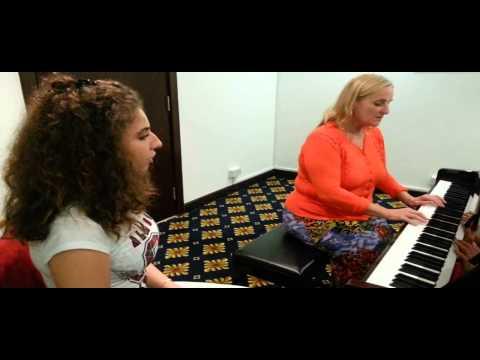 Auditions Sandra Scott at Gloria Hotel on Dec 14 2013 For Dubai Young Leaders Chorus
