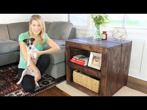 The Rustic Side Table – Easy DIY Project