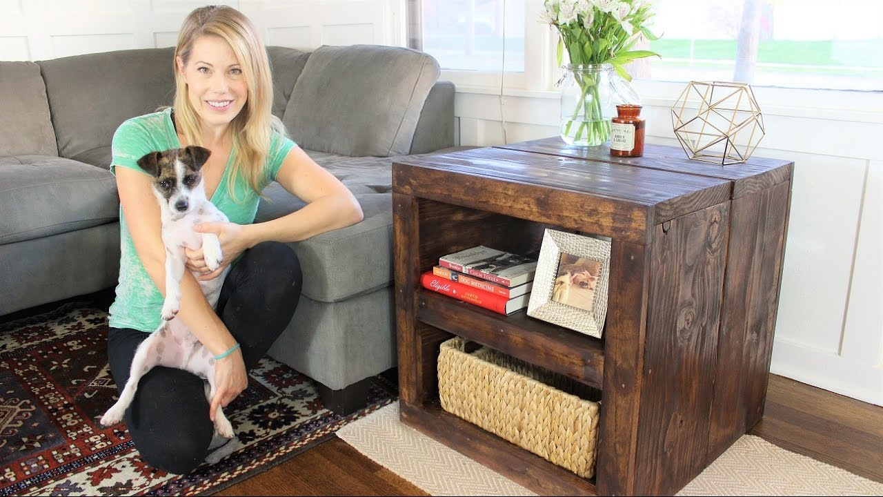 The Rustic Side Table Easy Diy Project Youtube