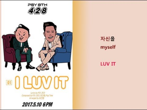 PSY- I LUV IT Lyrics Video for Korean Learners