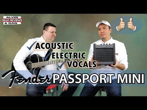 FENDER PASSPORT MINI AMP REVIEW - ALVIN and DAN GEAR REVIEWS (2019)