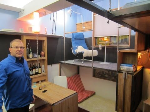 Tiny Yellow House- Pico Dwelling- A Micro-Modern Apartment in Seattle- 182 Square Feet!