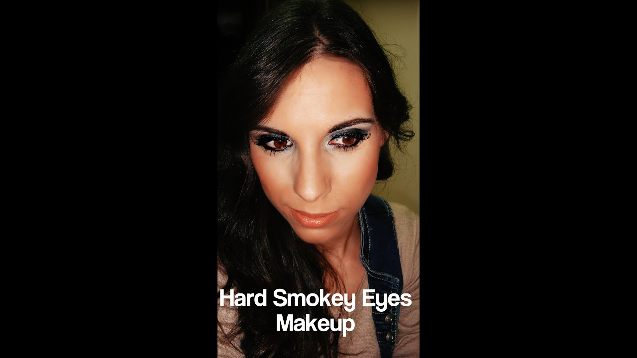 Hard Smokey Eyes Makeup