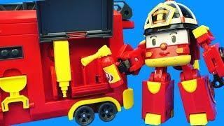 變形警車珀利的羅伊消防車工具箱玩具 thumbnail