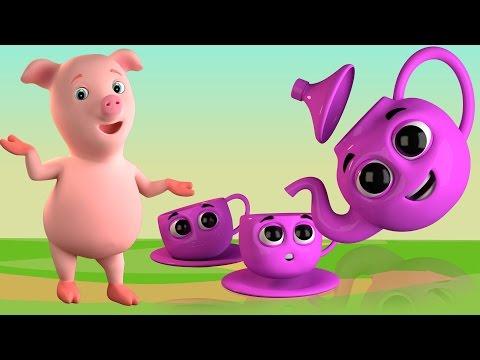 ich bin eine kleine Teekanne | Kinderreime | Lieder für Kinder | Baby Rhymes | I'm a Little Teapot