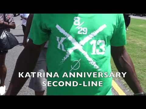 Watch the Hurricane Katrina 13th anniversary second-line parade