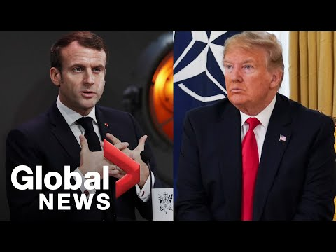 "Trump slams French President Macron for ""very nasty"" comments on NATO"