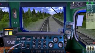 2ТЭ10У в Trainz simulator 12. Маршрут BAM: olekma