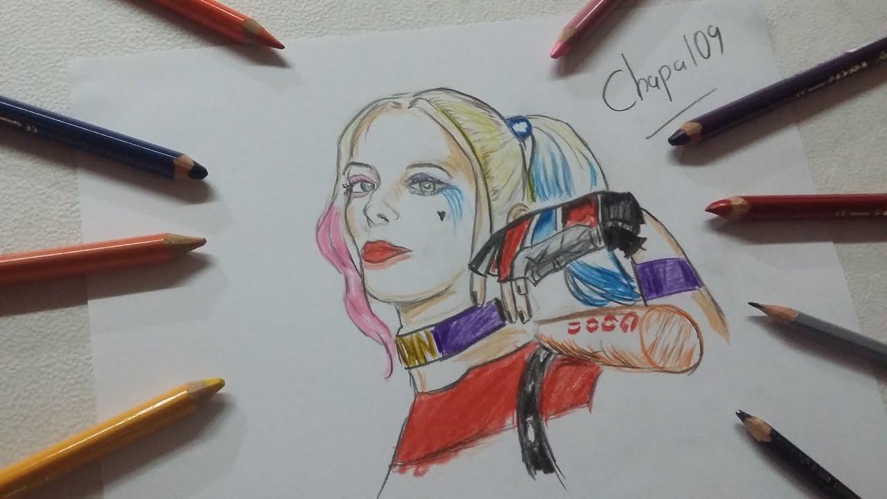 Dibujo De Harley Quinn: Escuadrón Suicida/ Drawing Harley
