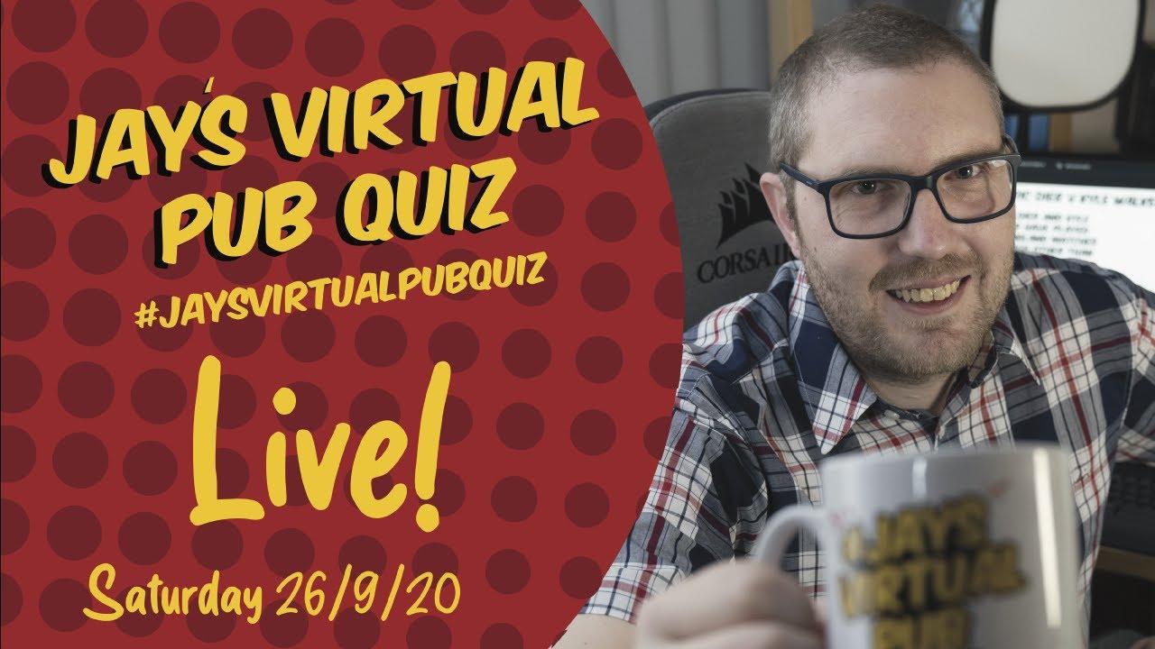 Virtual Pub Quiz, Saturday 26th September