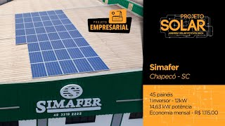 Energia Solar - Simafer, Chapecó-SC