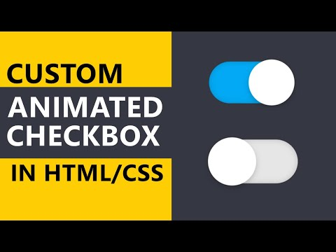 Custom Animated Checkbox In HTML/CSS | CSS Tutorials | Webster