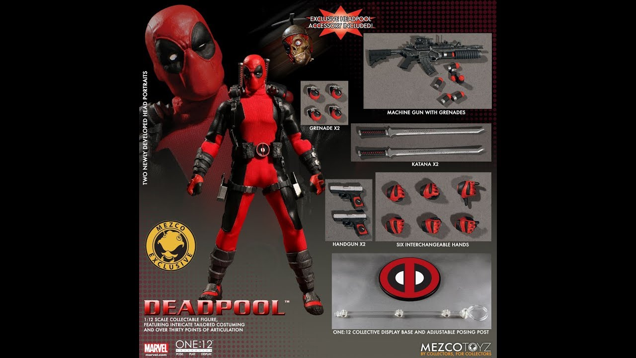 Mezco One:12 DEADPOOL X-FORCE PX 8 GRENADES AND AMMO Accessories Only