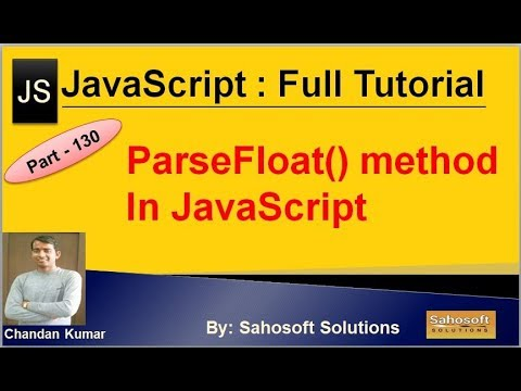 ParseFloat() method in JavaScript   JavaScript Full Tutorial in Hindi thumbnail