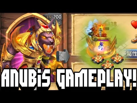 Castle Clash New Hero Anubis Gameplay! | Anubis In Action