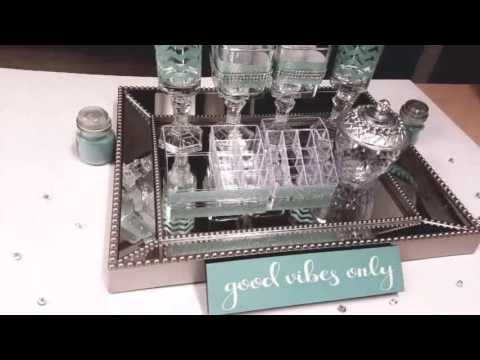 Dollar tree  makeup vanity tray