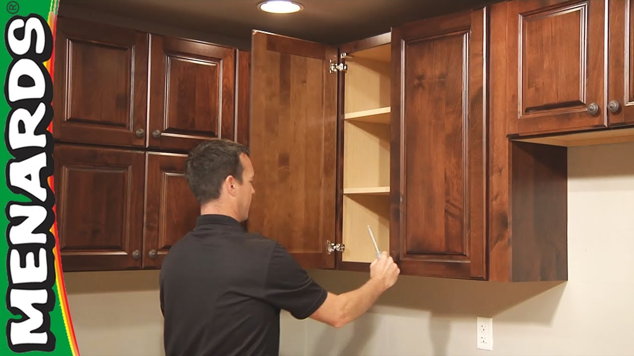 Hanging Kitchen Cabinets Origami Folding Island Cart Cabinet Installation How To Menards Youtube