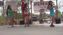 Jovelyn, Michelle and Kristine Dance at FAMAZ Walk for a Cause Event 03-17-2012