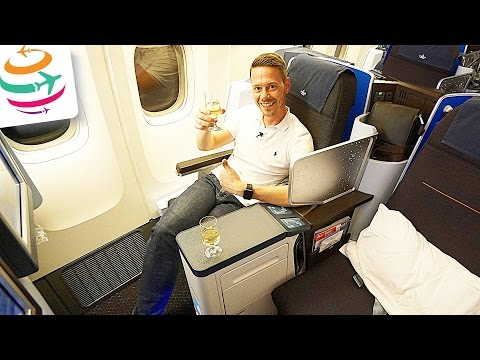 KLM neue World Business Class 777-200 Flight Report Review  | GlobalTraveler.TV