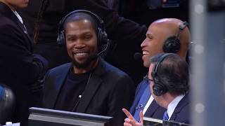 Kevin Durant Joined Ian Eagle And Richard Jefferson To Talk Recovery, Warriors And More