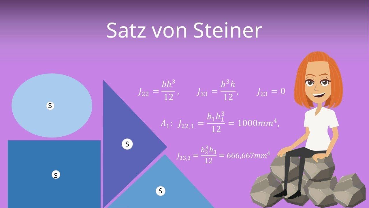 Satz Von Steiner Flachentragheitsmoment Youtube