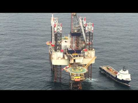 Paragon offshore HZ1 crew change by helicopters.