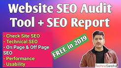 FREE Website SEO Audit Tool Report |Complete SEO Site Checkup-SEO Audit Tools Beginner Blogger Hindi