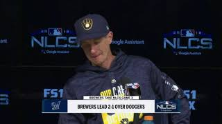 Craig Counsell has high praise for Brewers' starting rotation