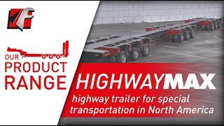 FAYMONVILLE HighwayMAX - Highway trailer for special transportation in North America