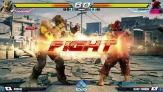 EVO 2016 Tekken 7 Semifinals Rj Pekos (King) vs Secret Poongko (Akuma)