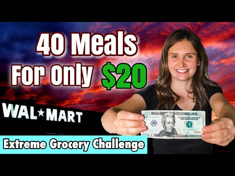 40 MEALS FOR $20  |  EXTREME GROCERY BUDGET CHALLENGE  |  A FEW TIPS TO SAVE MONEY  - JULIA PACHECO