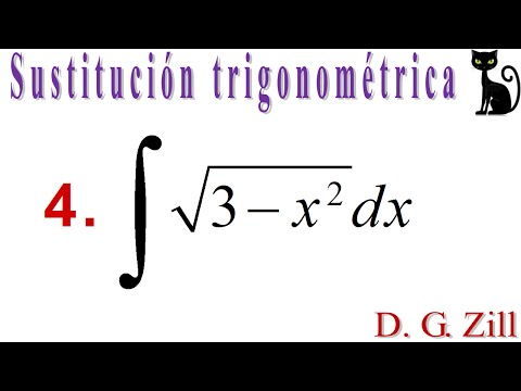 Integración por sustitución trigonométrica. Zill 7.5_4