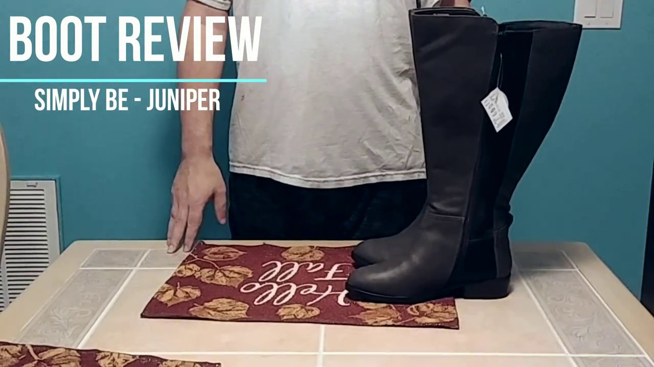 636119c9f32 Boot Review - Simply Be Juniper Knee High Boots - YouTube
