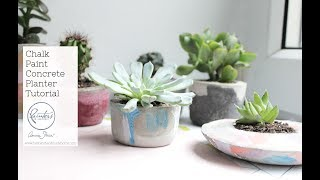 How to colour concrete using Chalk Paint by Annie Sloan