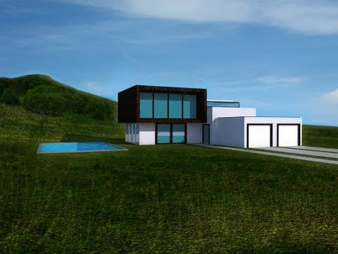 Google sketchup - modern house design