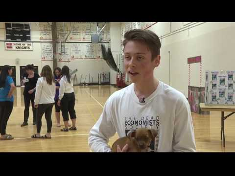 Puppy Party stress reliever at Bishop Kelly High School