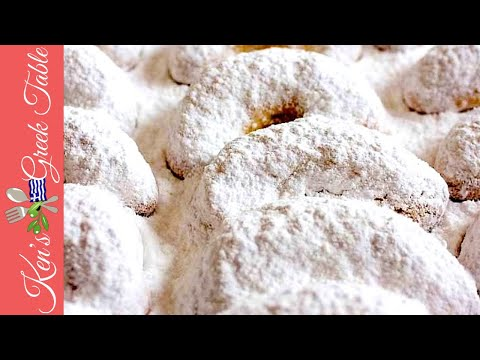 How To Make Kourabiedes  Traditional Greek Butter Cookies  Ken Panagopoulos
