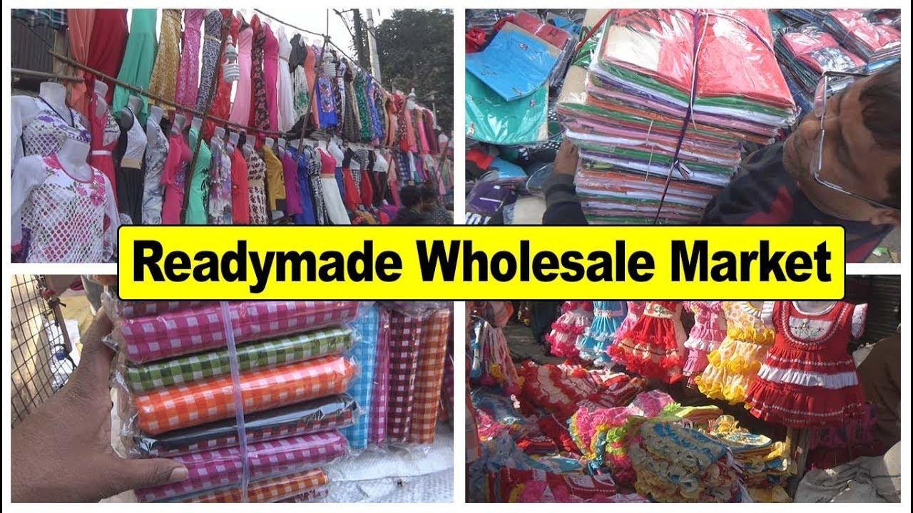 Readymade Garments Wholesale Market in Kolkata || Harisha Haat