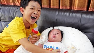 Baby Care with Superhero Toys Activity Pretend Play