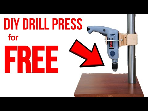 DIY Drill Press (from a Handheld Drill!)