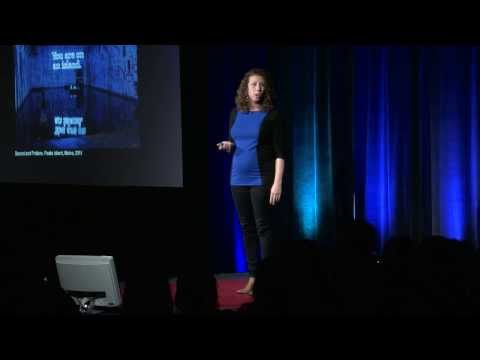 Making art is like speaking in tongues: Alicia Eggert at TEDxDirigo ...