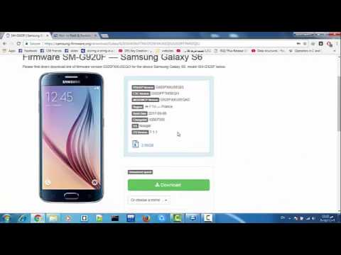 samsung s6 SM-G920F official firmware installing