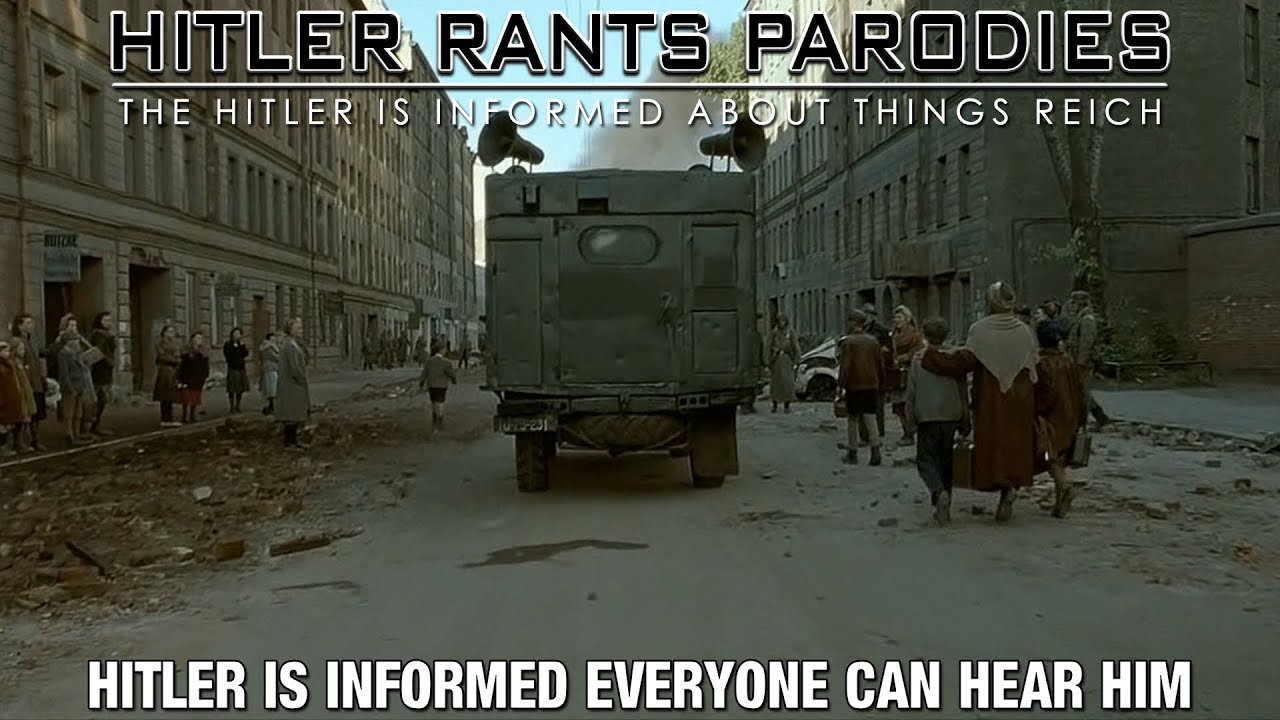 Hitler is informed everyone can hear him