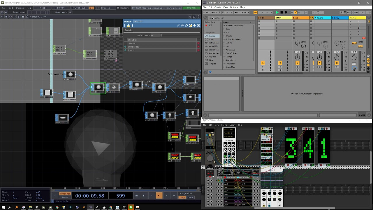 Sync with Ableton Live and VCV Rack