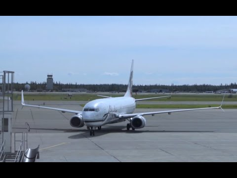 Alaska Airlines Boeing 737-800 / Takeoff Fairbanks / Land In Anchorage