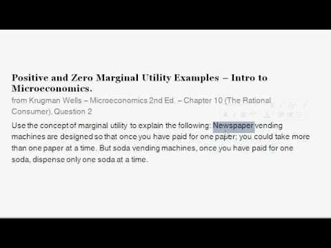 marginal utility example