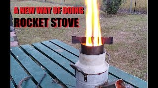 Gravity Feed Rocket Stove Experiment