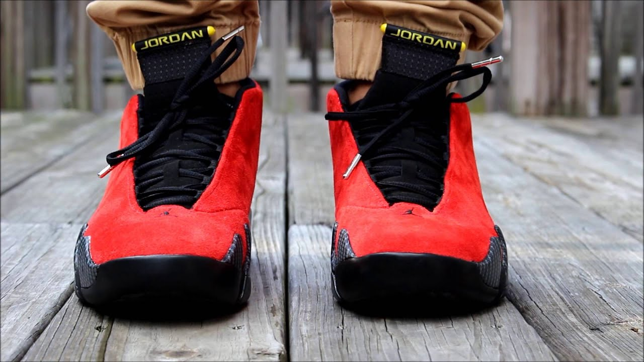 0fc45b24489053 Air jordan 14 Ferrari review + on feet - YouTube